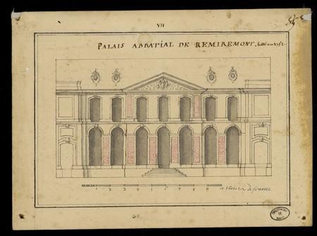 Palais abbatial de Remiremont bâti en 1752