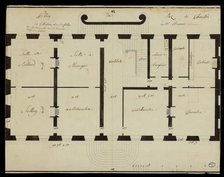 Plan du château de Sousalle ou du hazard à M. Benoit.