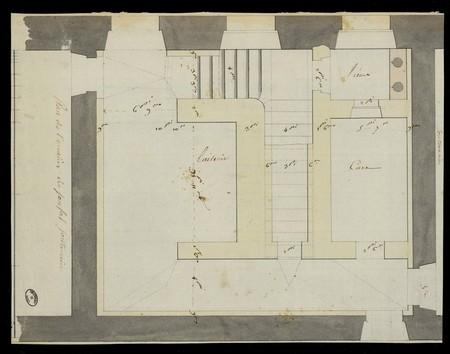 Plan de l'escalier de sousal souterrain