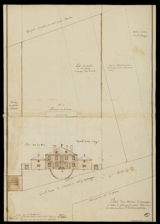 Plan d'une maison de campagne à bâtir à Virecourt, pour Monsieur le comman…