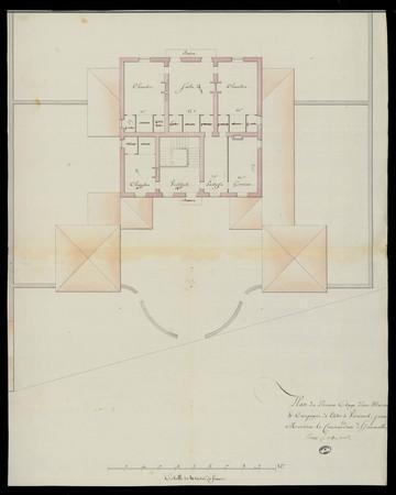 Plan du premier étage d'une maison de campagne à bâtir à Virecourt, pour M…