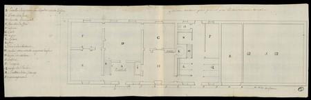 Maison de Cure, plan général par l'intendance de Lorraine.