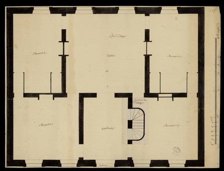 Plan d'une maison, étage.