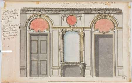 Grand cabinet de Son Altesse Royalle costé de la cheminée