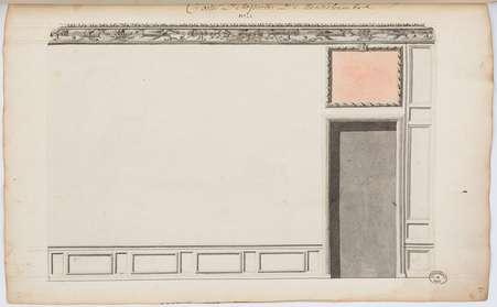 Chambre de son Altesse Royale du côté de la cour: Costé de la porte de le…