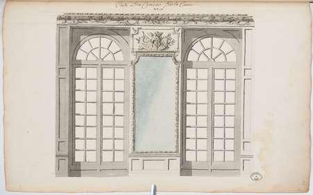 Chambre de son Altesse Royale du côté de la cour: Costé des croisées sur …