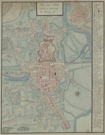 Plan des villes, citadelle et faubourgs de Nancy