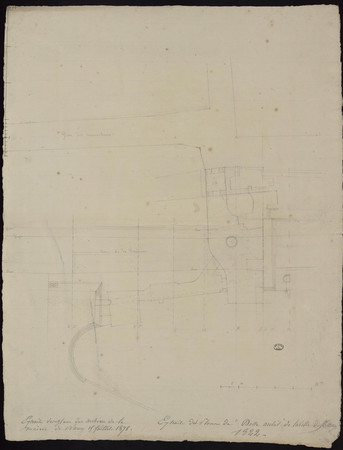 Extrait des plans des archives de la mairie de Nancy 15 juillet 1878 / Ext…