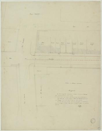 Plan du quartier comprenant la rue de la pépinière, la rue Vioménil et rue…