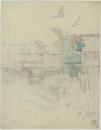 Plan du quartier autour de la grande rue et de la rue des maréchaux