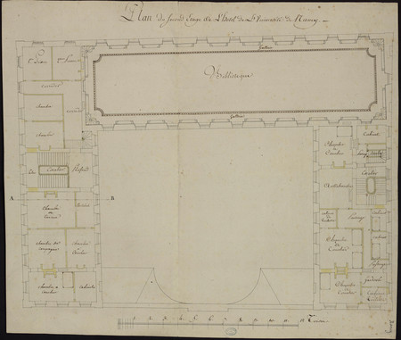 Plan du second étage de l'hôtel de l'université de Nancy