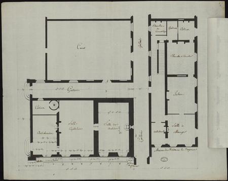 Plan [du rez de chaussée et] du premier étage de la maison de madame la Do…