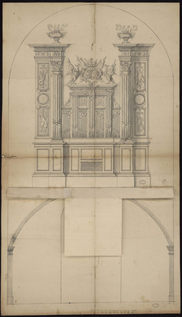 Élévation de l'orgue de la cathédrale
