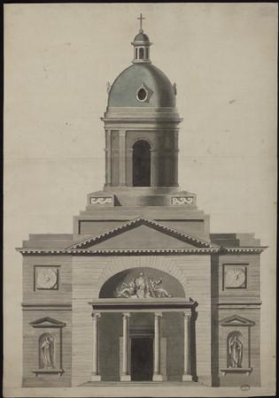 Façade de l'église de la Visitation.