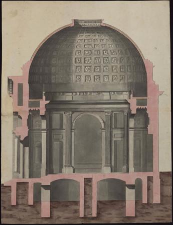Coupe transversale de l'église de la Visitation.