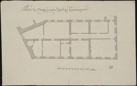 Plan du 1er étage du petit hôtel du gouvernement.