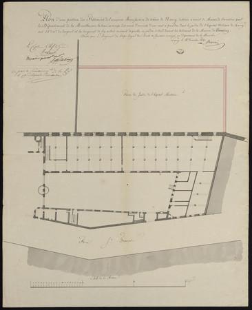 Plan d'une portion des batimens de l'ancienne manufacture de tabacs de Nan…