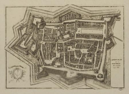Ancien plan de la ville vieille de Nancy en 1611