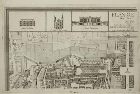 Plan général des deux villes de Nancy et des nouveaux édifices que sa Maje…