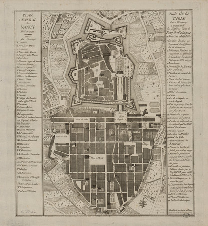 Plan général de Nancy levé en 1758