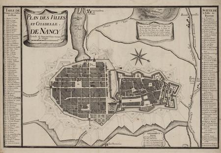 Plan des villes et citadelle de Nancy