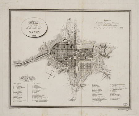 Plan de la ville de Nancy 1822