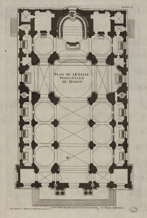 Plan de l'église primatiale de Nancy
