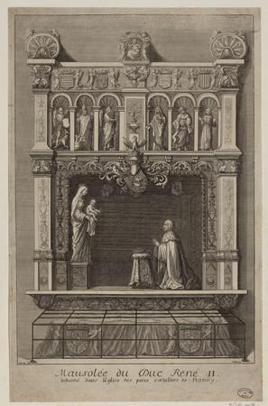 Mausolée du duc René II. Inhumé dans l'église des pères cordeliers de Nancy