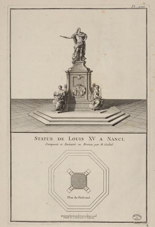 Statue de Louis XV à Nancy, composé et exécutée en bronze par M. Guibal
