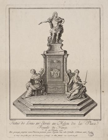 Statue de Louis XV élevée au milieu de la Place Royale de Nancy : le 26 no…