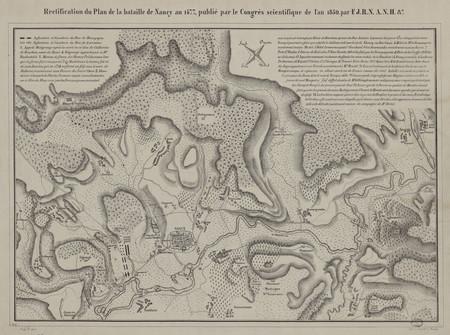 Rectification du plan de la bataille de Nancy en 1477, publié par le Congr…