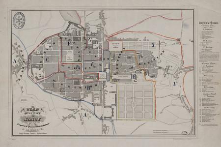 Plan de la ville de Nancy dressé d'après le plan cadastral déposé à la mai…