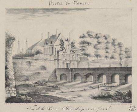 Vue de la Porte de la Citadelle prise des fossés