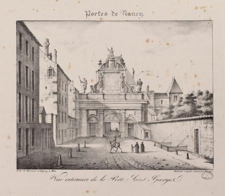 Vue extérieure de la Porte Saint-Georges