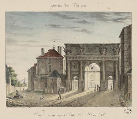 Vue extérieure de la Porte St [Saint] Stanislas