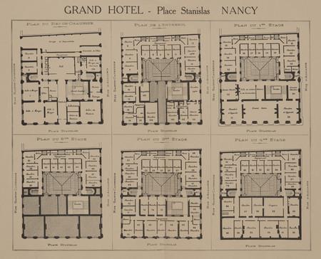 Grand Hôtel : place Stanislas Nancy [Plan des étages]