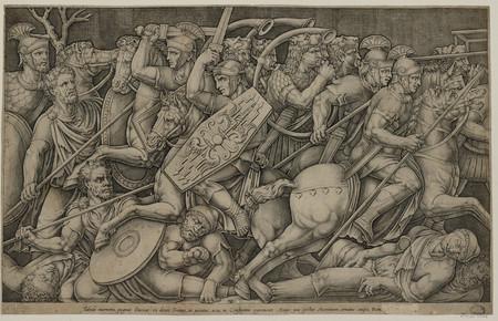 Les soldats romains combattant contre les Daces