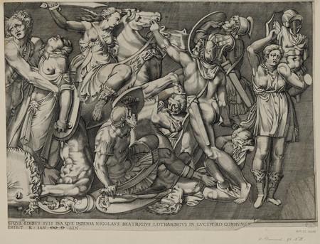 Le combat des amazones