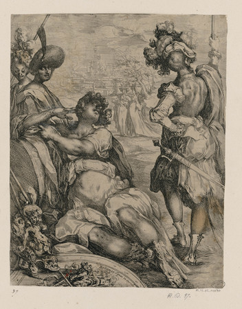 Six personnages près d'une ville (dit aussi Scène de camp, Judith et la se…