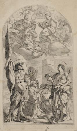 Couronnement de la Vierge avec saint Jean-Baptiste, saint Jean l'Evangélis…