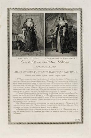 VIII. Et IXe. Deux portraits d'Antoine Van Dyck : Portrait Inconnu et La P…