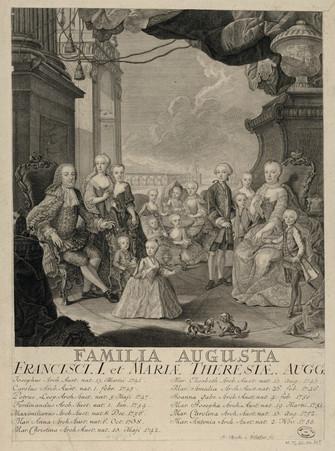 Familia Augusta : Francisci I et Mariae Theresia Augg