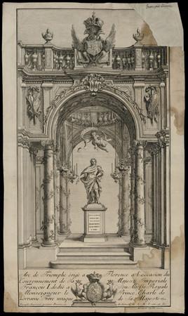 Arc de Triomphe èrigè à Florence a l'occasion du Couronnement de Sa Majest…