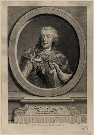 Charles Alexandre de Lorraine, né le 12 décembre 1712