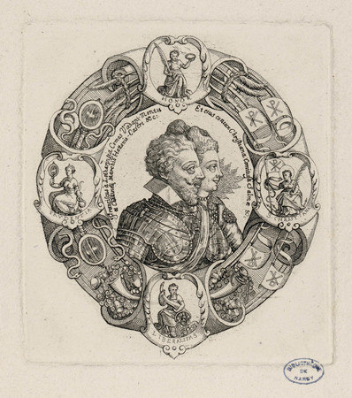 Portraits de François II de Lorraine et de Christine de Salm
