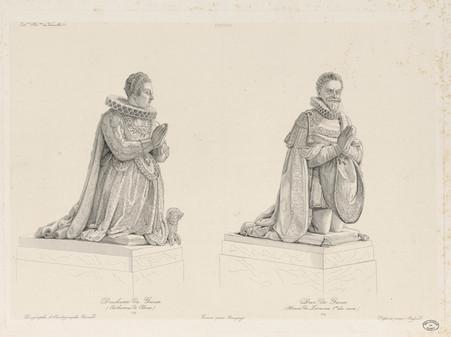 Statues orantes de la duchesse et du duc de Guise