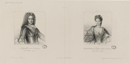 Portraits du duc Léopold Ier de Lorraine et de la duchesse Elisabeth-Charl…