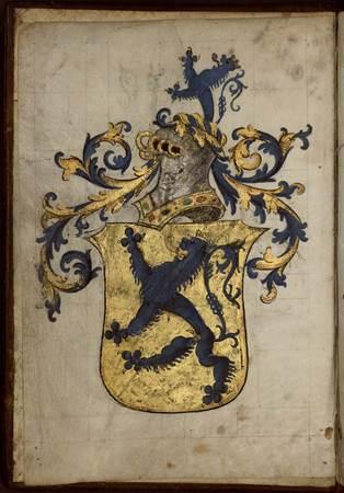Armorial composé pour Nicolas de Lutzelbourg, seigneur de Fléville, capita…