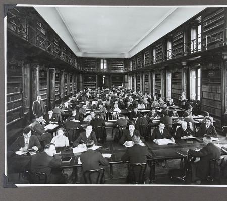 Vue de la salle de lecture, avril 1932