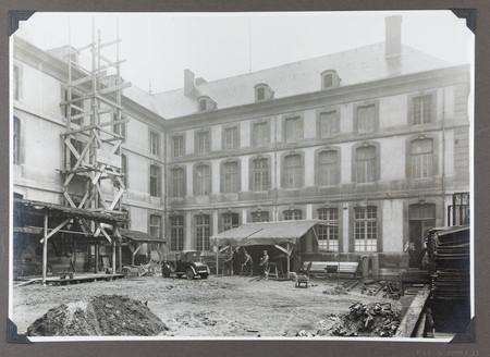 Vue des travaux à la bibliothèque, octobre 1930